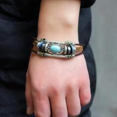 Unique Exotic Stylish Alloy Turquoise Women's Ladies' Girl's Bracelets