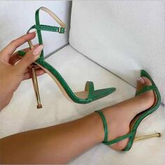 Women's PU Stiletto Heel Sandals Heels With Buckle shoes