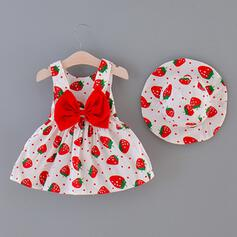 2-pieces Baby Girl Bowknot Polka Dot Print Cotton Set