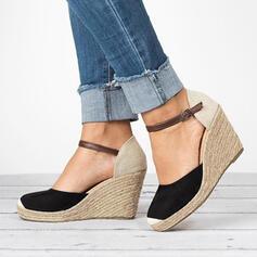 Women's PU Wedge Heel Pumps With Buckle shoes