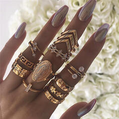Stylish Alloy Jewelry Sets Rings