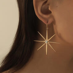 Shining Hottest Star Alloy With Rhinestone Earrings (Set of 2)