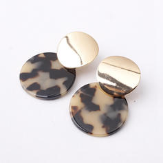 Simple Alloy Resin Women's Earrings