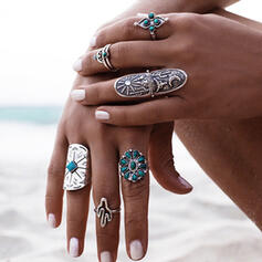 Hottest Fancy Alloy Jewelry Sets Rings (Set of 9)