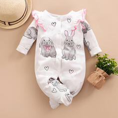 Baby Cartoon Animal Print Cotton One-piece