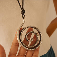 Vintage Classic Alloy With Circle Decor Women's Men's Necklaces