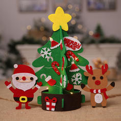 Christmas Merry Christmas Reindeer Santa Tabletop Non-Woven Fabric Diy Craft Christmas Tree
