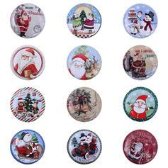 Christmas Merry Christmas Snowman Reindeer Santa Metal Candy Jars