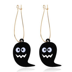 Halloween Ghost Alloy Leather Earrings 2 PCS