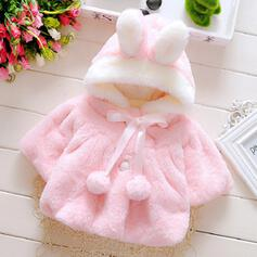 Baby Girl Bowknot Hooded Cotton Outerwear
