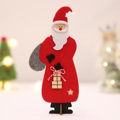 Christmas Merry Christmas Santa Tabletop Wooden Wool Christmas Ornements