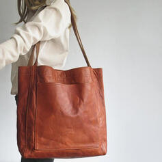 Vintga/Solid Color Shoulder Bags