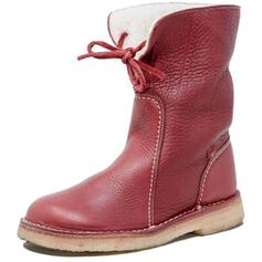 Women's PU Low Heel Mid-Calf Boots Snow Boots Round Toe Winter Boots With Lace-up Solid Color shoes