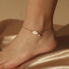 Classic Simple Iron With Shell Women's Anklets