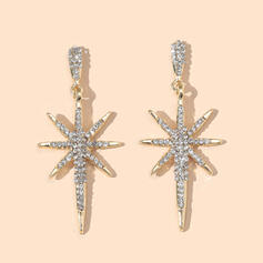 Shining Star Alloy Rhinestones With Rhinestones Earrings 2 PCS