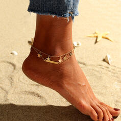 Charming Hottest Layered Beads With Star Anklets 2 PCS