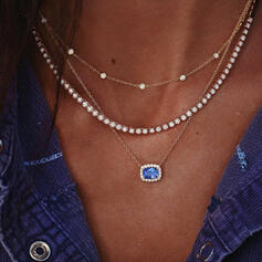 Elegant Delicate Luck Alloy With Cat's Eye Beads Women's Ladies' Girl's Necklaces