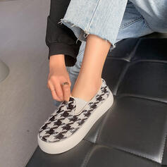 Women's Cloth Flat Heel Flats With Patchwork shoes