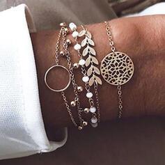 Hottest Layered Alloy Beads Bracelets 5 PCS