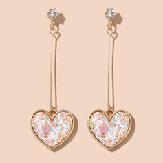 Attractive Heart Alloy With Heart Earrings 2 PCS