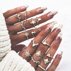 Boho Hottest Alloy Rings Beach Jewelry (Set of 16)