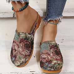 Women's PU Others Round Toe Mules Slip On With Splice Color Print shoes