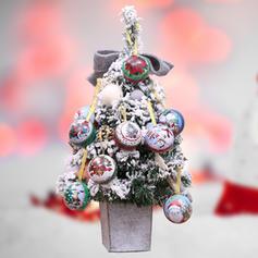 Christmas Merry Christmas Snowman Reindeer Santa Hanging Metal Tree Hanging Ornaments Christmas Ornements