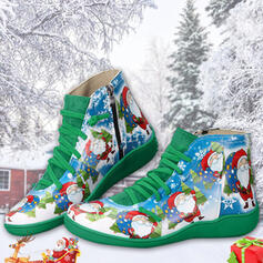 Women's PU Low Heel Ankle Boots Snow Boots Round Toe Winter Boots With Zipper Splice Color shoes