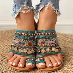 Women's Flat Heel Sandals With Sequin shoes