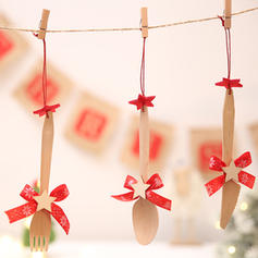 Christmas Merry Christmas Hanging Wooden Tree Hanging Ornaments Christmas Ornements