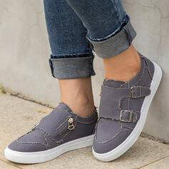 Women's Denim Sneakers Low Top Sneakers With Buckle shoes
