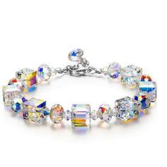 Shining Beautiful Alloy Crystal Bracelets 2 PCS
