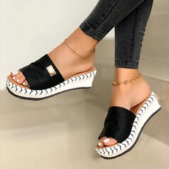 Women's Suede Wedge Heel Sandals Wedges Peep Toe Slingbacks Slippers With Others shoes