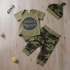 3-pieces Baby Boy Letter Print Cotton Set