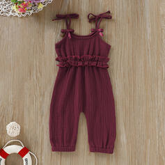Baby Ruffle Solid Cotton Pants