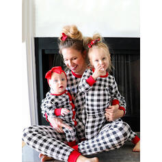 Plaid Print Family Matching Christmas Pajamas