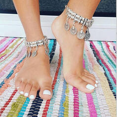 Exotic Alloy With Coin Beach Jewelry Anklets