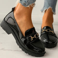 Women's PU Others Flats Round Toe Slip On With Buckle Solid Color shoes