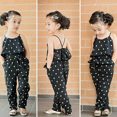 2-pieces Toddler Girl Ruffle Polka Dot Cotton Set