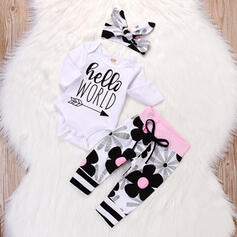 3-pieces Baby Letter Print Cotton Set
