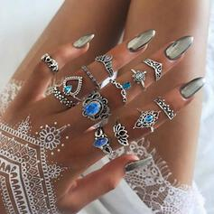 Stylish Boho Alloy Women's Ladies' Rings (Set of 12)