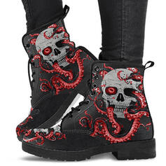 Women's PU Chunky Heel Boots Ankle Boots Martin Boots With Lace-up Others shoes