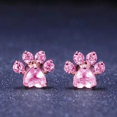 Shining Alloy Rhinestones Women's Earrings