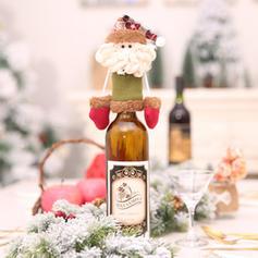Christmas Merry Christmas Snowman Reindeer Santa Non-Woven Fabric Wine Bottle Cover