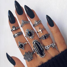 Unique Boho Alloy Women's Ladies' Rings (Set of 12)