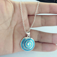 Round Alloy With Circle Decor Women's Necklaces