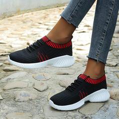 Women's Mesh Flat Heel Flats With Splice Color shoes