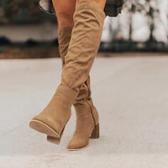 Women's Suede Stiletto Heel Boots With Zipper Solid Color shoes