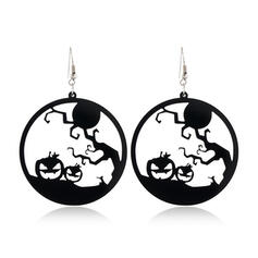 Halloween Pumpkin Spider Spider Net Witch Alloy Earrings 2 PCS