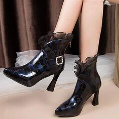 Women's Leatherette Stiletto Heel Ankle Boots shoes